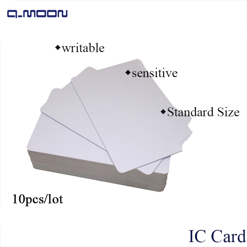 10 pcs lot standard size white writable 13 56mhz RFID widely used smart s50 pvc blank