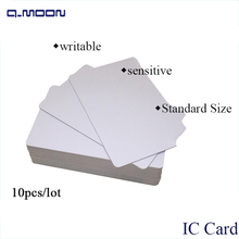 10 pcs lot standard size white writable 13.56mhz RFID widely used smart  s50 pvc blank card