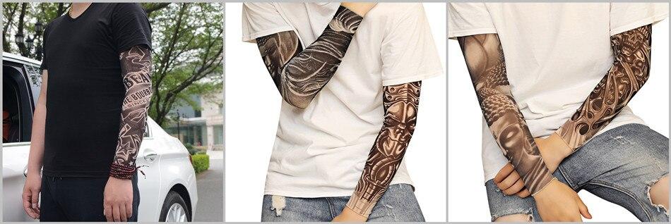 Supporto senza tatuaggio Calze si adatta Tatuaggio Maniche Biker