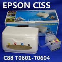 C88 CISS ink tank for Continuous Ink Supply System apply to ink cartridge chip T0601 T0602 T0603 T0604 sublimation ink