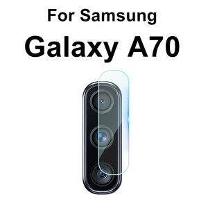 Image 5 - 2 In 1 กระจกนิรภัยสำหรับ Samsung Galaxy A70 70 A705F SM A705FN A70 A80 A90 A60 A50 A40 a30 A20 A10 เลนส์กล้องฟิล์ม