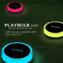 MIPOW PLAYBULBกันน้ำLEDพลังงานแสงอาทิตย์สวนสีสมาร์ทแสงลานสนามหญ้ากลางแจ้งตกแต่งโคมไฟฟรีAPPควบคุมRGB Wสีเปลี่ยน