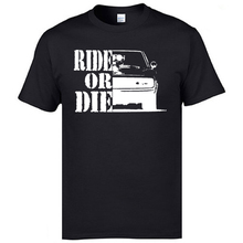 Ride or Die Car Classic Tops T Shirt Van Coupons Round Neck Normal Short Sleeve 100% Cotton Sumemr Top T-shirts For Men