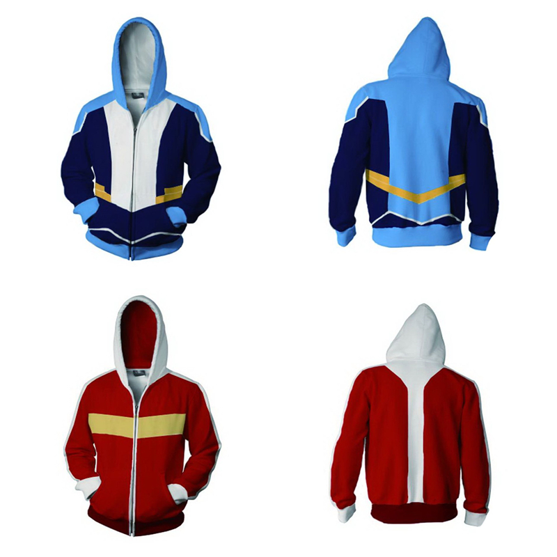 Voltron:Legendary Defender of the Universe Keith Akira Kogane Cosplay Costume autumn Big red zipper Hoodies Sweatshirts Jacket