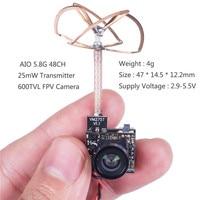 SunFounder FPV Micro AIO Camera 600TVL 5 8G 48CH 25mW Transmitter Clover Leaf Antenna SF C02
