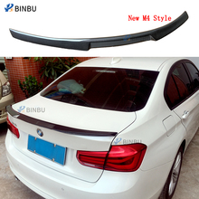 цена на Carbon spoiler For BMW f30 spoile F80 M3 Spoiler Carbon Fiber Material New M4 Style 2012 - UP 320i 328i 335i 326D F30 rear wings