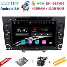 Ips 7 дюймов 600*1024 Octa Core Android 8,0 4 г оперативная память 32 ГРОМ Мультимедиа dvd плеер автомобиля для peugeot 308 408 с Wi Fi радио gps BT RDS