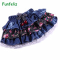 New Arriavl summer autumn girl skirt denim tutu skirts girls pettiskirt tutu skirt for girls children 2-6T