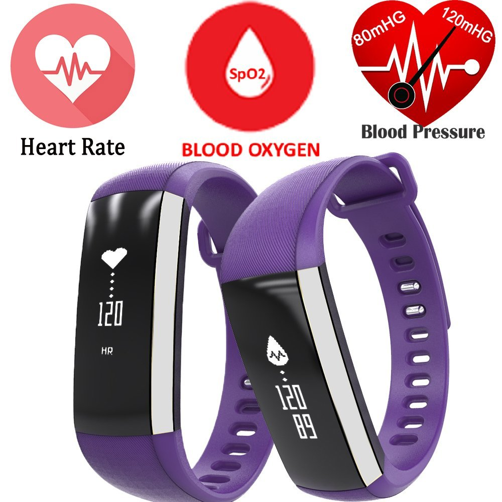 Nbs02 Purple Smart Bracelet Bluetooth Heart Rate Sleeping Blood Jam Tangan M2 Health Oxygen Fitness Tracker Waterproof Touch Screen Free Shipping In Watches From Consumer