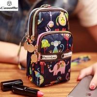 Three Layers Storage Bag Phone Handbag Purse Pouch Wrist Bag For IPhone 7 7 Plus For