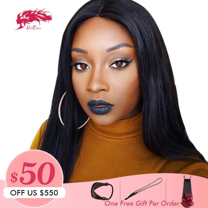 613 Blonde Black Straight Lace Front Wig 13x6 Pre Plucked Hairline 130 150 180 Density Brazilian