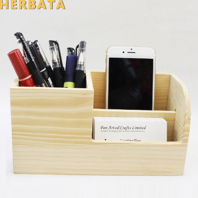 Multifunctional Wooden Office Organizer Fashion Lovely Design Pencil Holders Desk Accessories Cl 2549 In Pen From School Supplies On