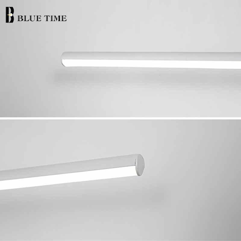 Бра, настенная Светодиодная лампа лампы для ванной комнаты 60 80 100 см современный светодиодный настенный светильник для ванной зеркало передний свет алюминий AC110V 220 V Белый