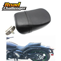 Motorcycle Driver Passenger Seat Black Leather Rear Seat For Kawasaki Vulcan 650 VN650 VN 650