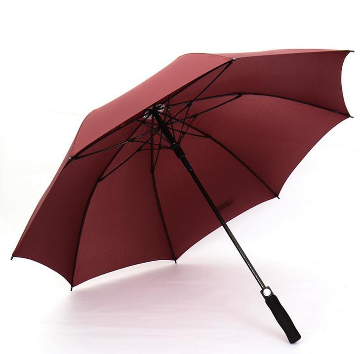 Straight Long Handled Golf Umbrellas Fully-automatic Sunny Rainy 8K Umbrella Rain Gear solid colors prefect gift