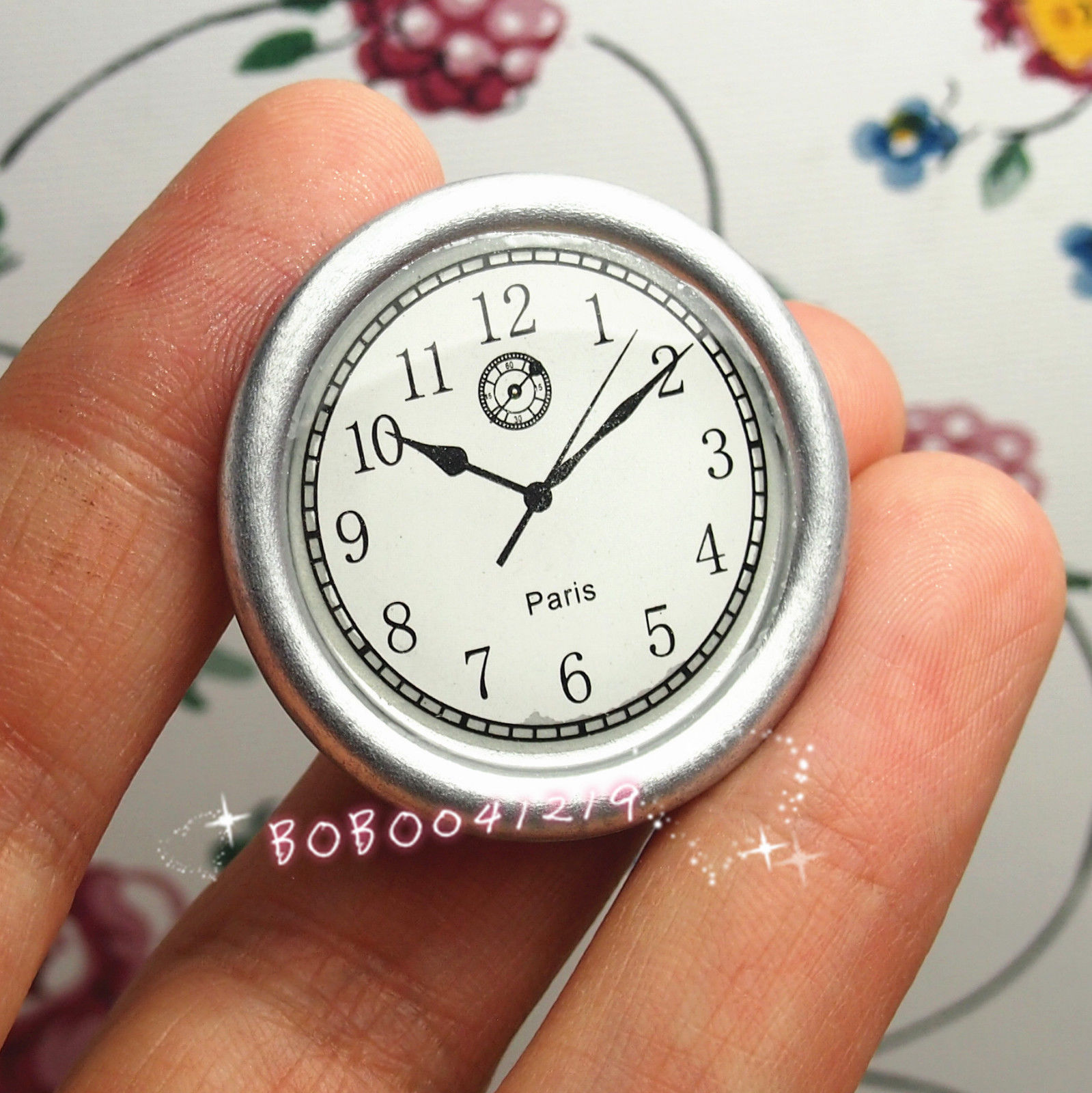 Considerate Dollhouse Miniature Toy Living Room A Silver Wall C Lock Diameter 3.3cm Fm47 Fashionable Patterns Pretend Play