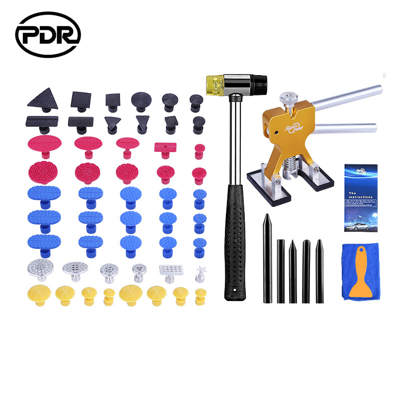 PDR Tools Paintless Dent Repair Auto Repair Tool Dent Puller Kit Mini Lifter Suction Cups Glue Tabs Hammer Tool Set  paintless dent repair tool pdr kit dent lifter glue gun line board slide hammer dent puller glue tabs suction cup pdr tool set