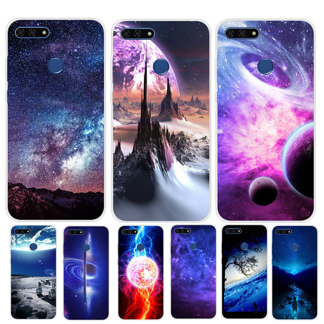 size 40 bc894 0365d US $1.8 5% OFF|Silicone Case on For Huawei Honor 7C Case 5.7