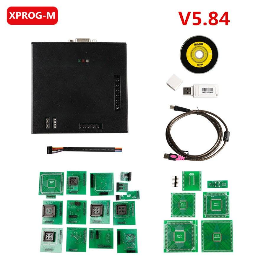 2018 última versión X-PROG caja ECU programador XPROG M XPROG-M V5.84 con USB Dongle X Prog XPROG-M/5,84/V5.74/V5.5.5/V5.50