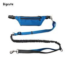 Hands Free Dog Leash for Running Walking Adjustable Belt with Reflective Stripes Harness Lead For Sports Pet
