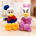 """12 """"30 cm 1 pcs Genuíno Pato Donald Margarida Pato boneca de brinquedo de pelúcia presentes das crianças presente de natal grátis grátis"""