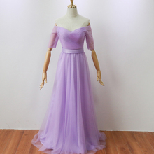 Violet Color Floor-Length  Bridesmaid Dress Long Party Elegant Women for Wedding