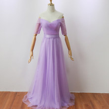 Violet Color Floor-Length Bridesmaid Dress Long Party Dress Elegant Dress Women for Wedding Party(China)