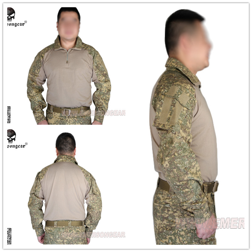 Emerson Tactical G3 Tshirt airsoft combat gear training shirt Military US Army EM9245 Badlands BL