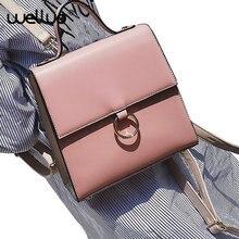 Марка винтаж мода круглый кольцо женщины рюкзак PU школьные рюкзаки для девочек-подростков случайный большой емкости плече сумки XA64B