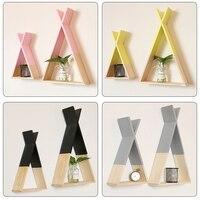 Скандинавский детский деревянный X висячая стойка для хранения для детской комнаты декор нужно собрать самостоятельно Детская комната Дек...