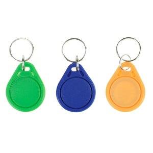 Image 4 - 100 stücke RFID keyfobs 13,56 mhz schlüsselanhänger NFC tags ISO14443A MF Klassische® 1 karat nfc access control token smart keycard sechs farben