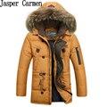 2017 new men's brand Down Jacket Mens White down jacket  fur collar jacket male winter coat jacket thickening 238hfx