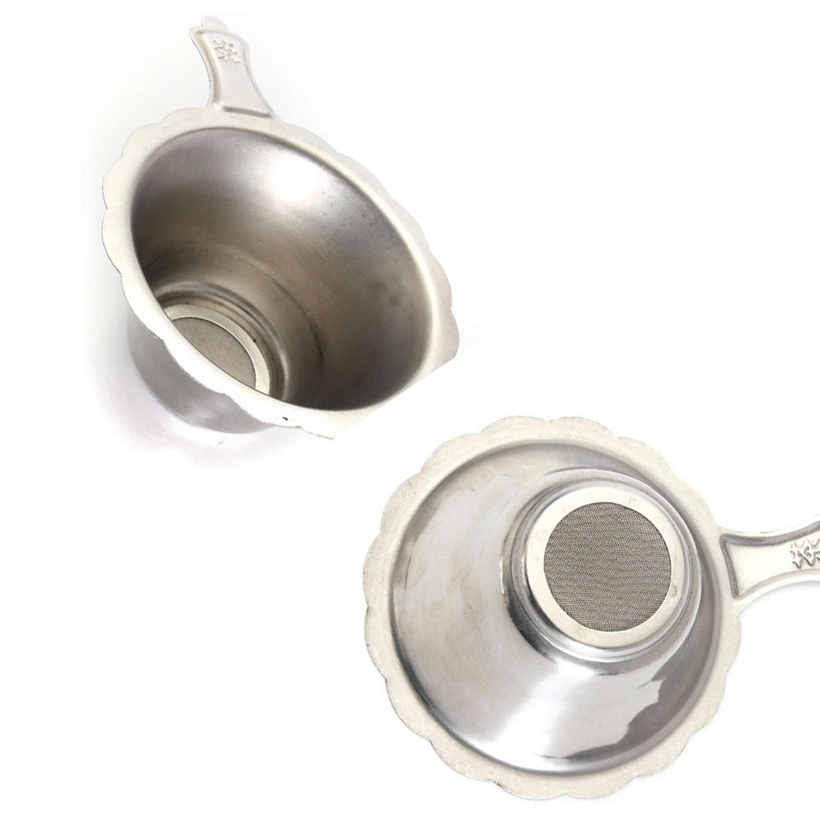 Reutilizável de Aço Inoxidável Filtros de Chá Coador de chá Infusor de Chá Cesta de Malha Fina para o Chá Da Folha Solta Drinkware Acessórios de Cozinha