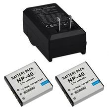 2 шт. 3.7 В 1500 мАч np-40 np40 аккумуляторная камера аккумулятор + зарядное устройство для casio ex-z30/z40/z50/z55/z57/z750 ex-p505/p600/p700 pm200 батареи
