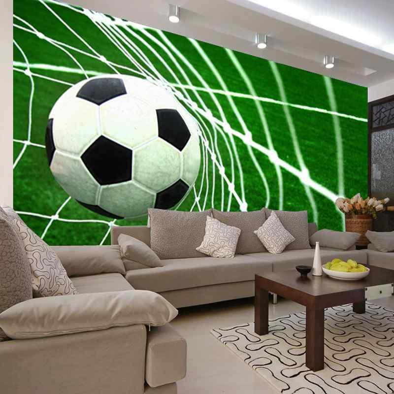 Photo Wallpaper 3D Football Goal Scene Wallpaper Children's Bedroom Living Room Restaurant School Stadium Wallpaper Mural