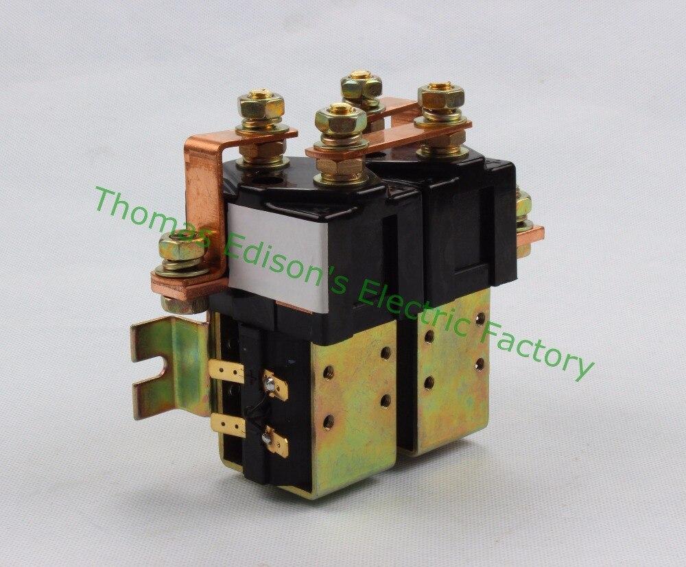 SW88 2NO + 2NC Напряжение 12 В 24 В 36 В 48 В 60 В 72 В 100A DC Контактор ZJW100AHT для вилочных обработки рисунок Wehicle автомобиль НАСОС ДВИГАТЕЛЯ