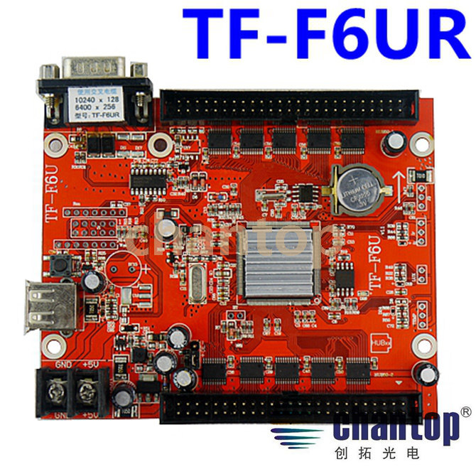 TF-F6UR USB+serial port LED Control Card 10240*128pixels support Single, Double, Full Color LED moving sign controller board fk cx5 rj45 netwok and usb led control card 2408 48pixels support single