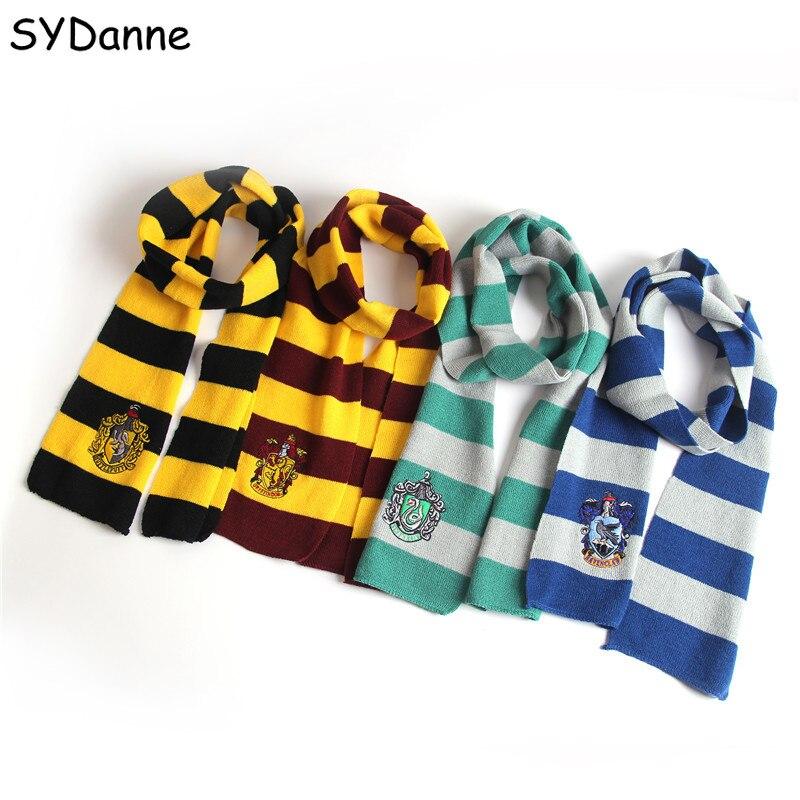 Harri Potter Ties Caps Scarfs Cosplay Costumes Gryffindor Slytherin Hufflepuff Ravenclaw Hat Scarves Hermione Men Women Boy Girl