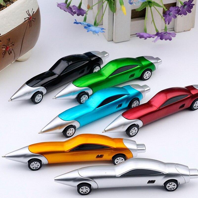 Coloffice 1 шт. творческие спортивные автомобили 6 цветов случайный 01 мм синий шариковая ручка Пластик шариковые ручки подарочные стационарный ш... ...