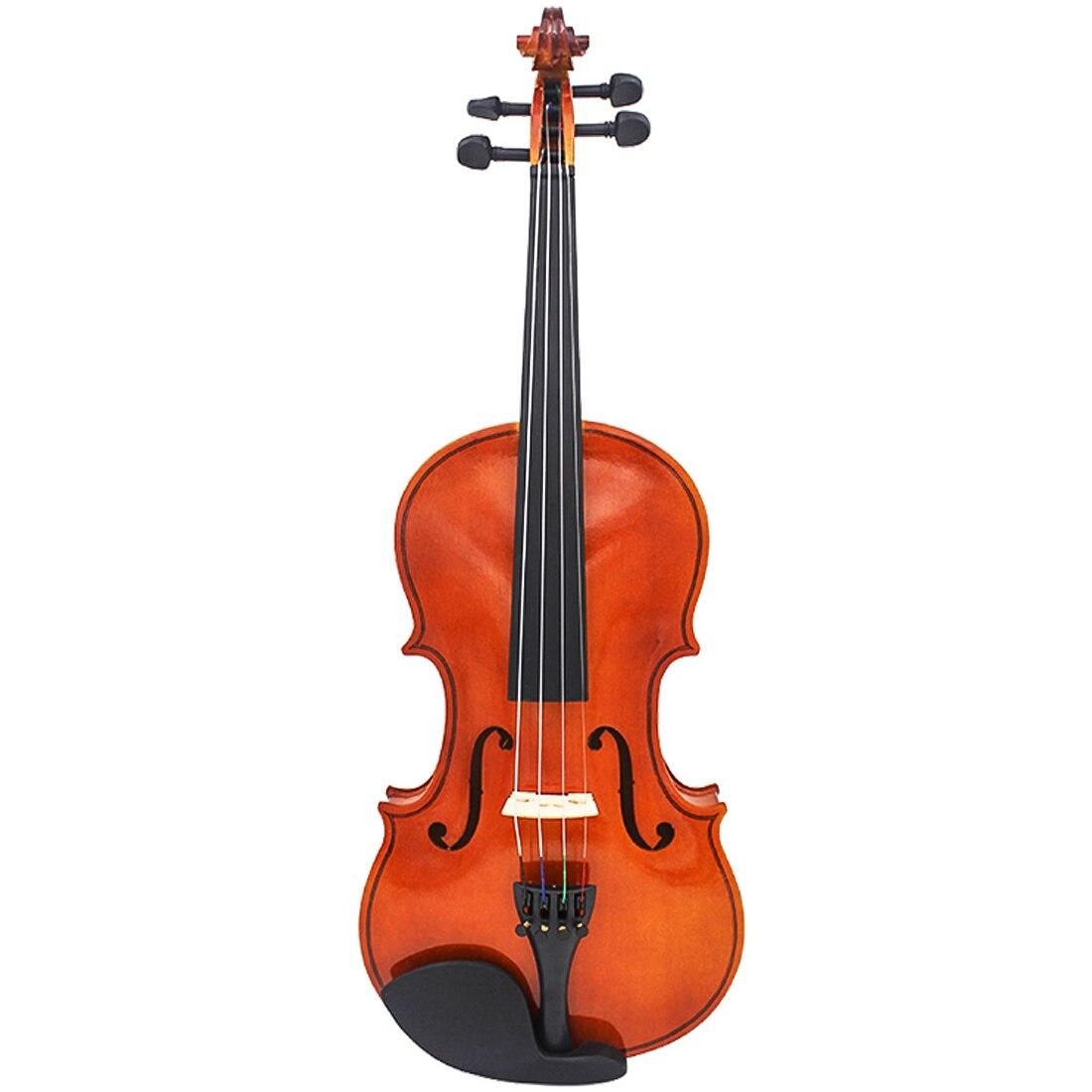 4/4 violon en bois massif fait à la main avec étui colophane violons pour débutants enfants Instruments de musique jouet-naturel