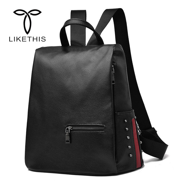 db9b5a1373 New Designer Large Capacity Women Backpack Rivets Gril School Backpack PU Leather  Female Purse Mochila Shoulder Bags