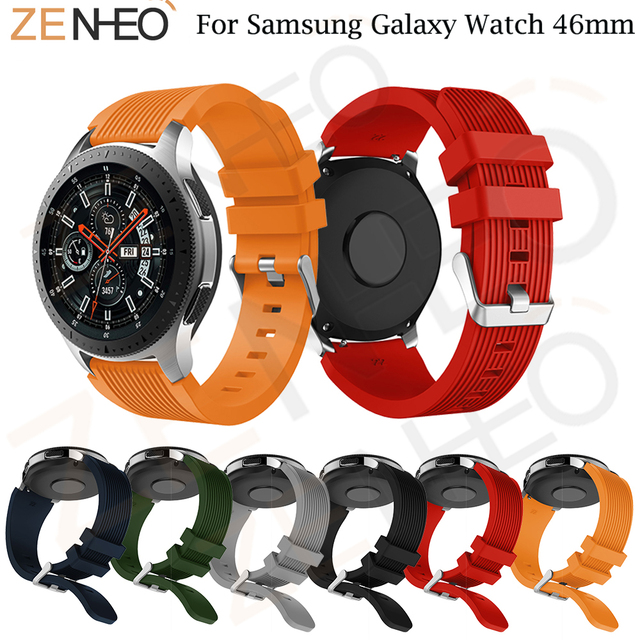 22mm Sport Silicone strap for Samsung Galaxy Watch 46mm Watch Band bracelet wris