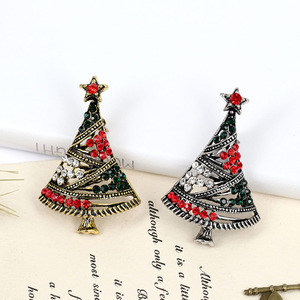 CINDY XIANG Pretty Rhinestone Christmas Tree Brooches For Women Colorful Star Pins Coat Jewelry Dress Corsage Accessories 2018
