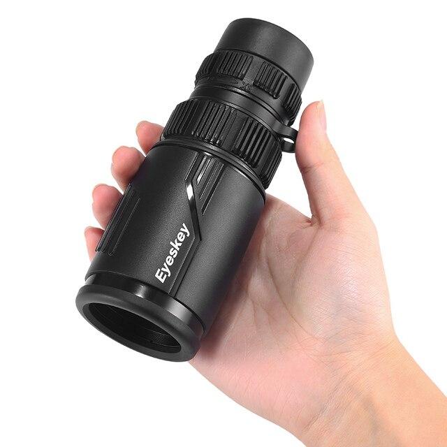 Eyeskey zoom 8 24x42 compacto e portátil, monóculo monocular à prova d água, com telescópio bak4, para acampamento e fome