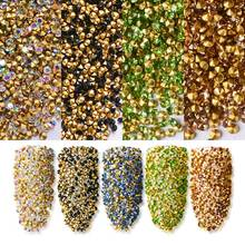 T-TIAO CLUB Mini Crystal AB Color Nail Rhinestones Multiple Colors For Nails Art 3D Decoration