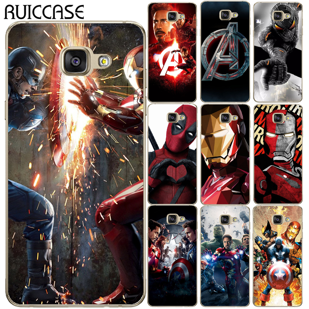 Marvel Super Heroes Spider Iron Man Soft TPU Case For Coque Samsung Galaxy A3 A5 A7 2016 2017 A6 A8 Plus A7 2018 Avengers Cover image