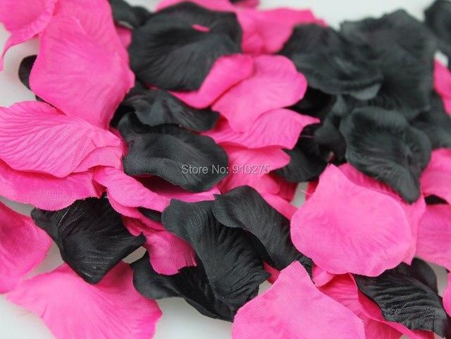 1000pcs mixed hot pink fuchsia black wedding flower girl rose 1000pcs mixed hot pink fuchsia black wedding flower girl rose petals bridal shower party decoration mightylinksfo
