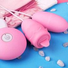 sex toys for women USB Charging Double Egg Remote control Vibrators Tongue Bullet Dildo Vibrator vaginal Clit Breast Masturbator