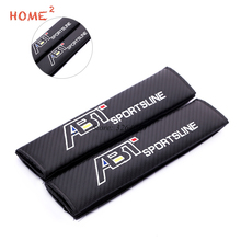 Car Accessories Seat Belts Pad Cover Safety Shoulder Padding for ABT Logo Volkswagen VW Tiguan Golf Polo Passat GTI Lavida