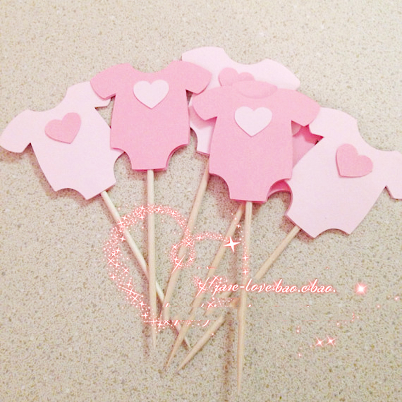 Buy baby boy girl clothes cupcake toppers for Baby shower decoration kits girl